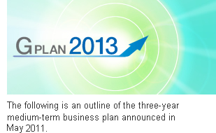 The following is an outline of the three-year medium-term business plan announced in May 2011.