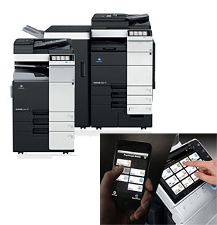 Color MFP bizhub Series and PageScope Mobile application