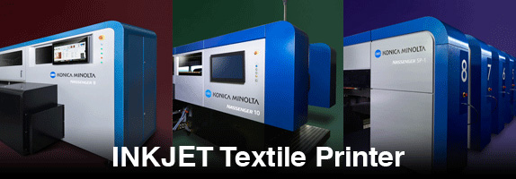 photograph about Inkjet Printable Fabric titled Inkjet Textile Printer-Solutions-Commercial Inkjet KONICA