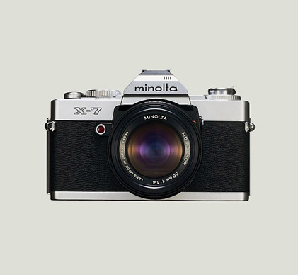 TV commercial for the Minolta X-7 featuring Yoshiko Miyazaki causes a sensation