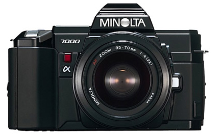 Minolta 7000, Single-lens reflex camera with a professional-quality autofocus function, is launched