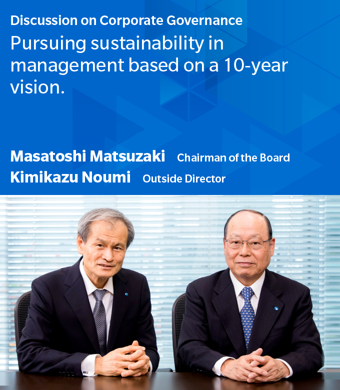 Pursuing sustainability in management based on a 10-year vision